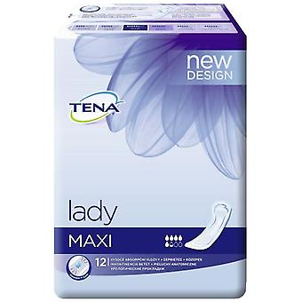 Tena Lady Maxi Compresses 12 uds (Hygiene and health , Intimate hygiene , Pads)