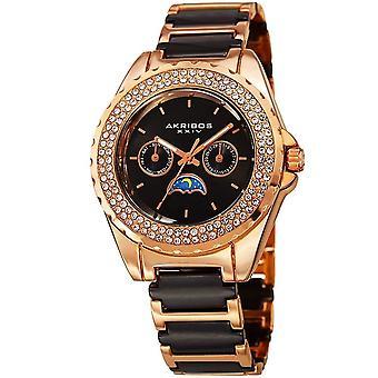 Akribos XXIV Women's Quartz Multifunction Crystal Ceranmic Bracelet Watch AK961RGB