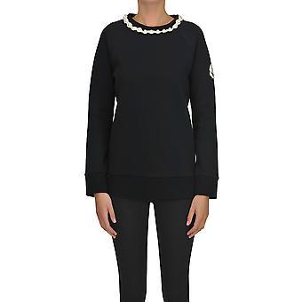 Moncler Black Cotton Sweater