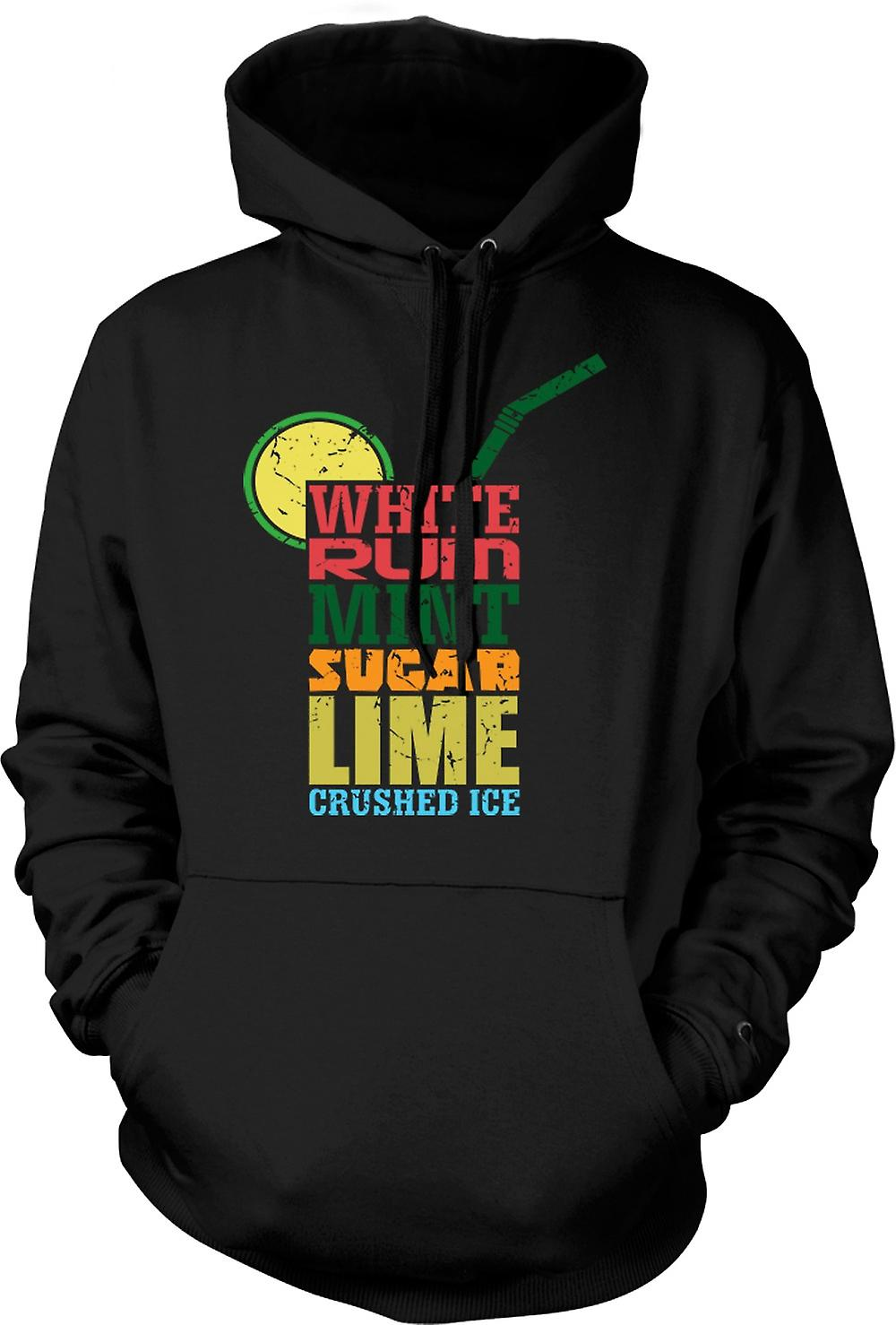 Mens Hoodie - Mojito-Cocktail - Cool
