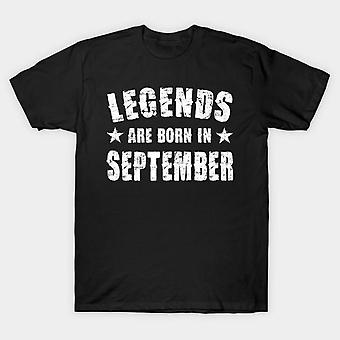 Legends are born in september half sleeves t-shirt