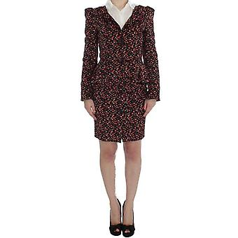 Bencivenga Black Multicolor Floral Suit -- SIG3255557