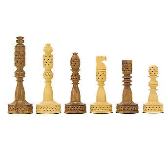 Tower Series Carved Sheesham and Boxwood Chess Pieces