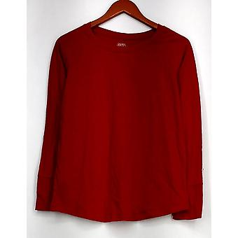 Gillian & O'Malley Sleepshirt Pullover Soft Knit Red Womens