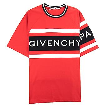 Givenchy 4G Contrasted Slim Fit T-Shirt Rouge/Noir