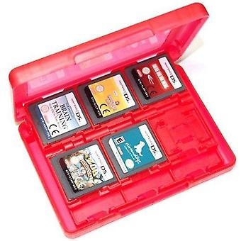 24 in 1 storage box travel case holder for nintendo 3ds, 2ds & ds game cartridges - red