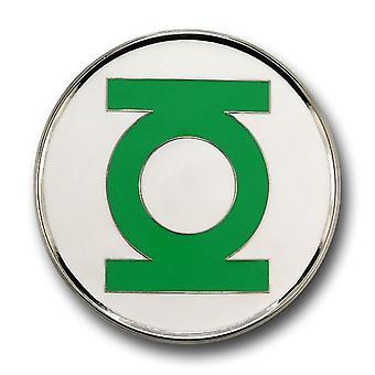 Linterna Verde Cinturón Hebilla Borde de Plata