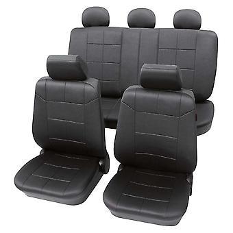 Mørkegrå sædebetræk til Volkswagen Passat 2010-2018