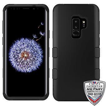 MYBAT Rubberized Black/Black TUFF Hybrid Phone Protector Cover for Galaxy S9 Plus