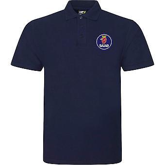 Saab Motor Car Motoring - Logo - Polo Shirt