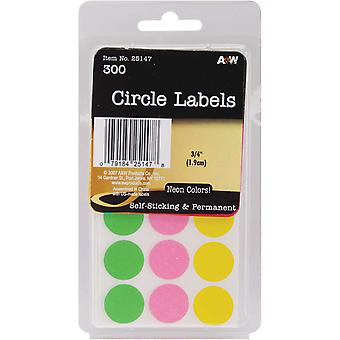 Labels Neon Circles .75