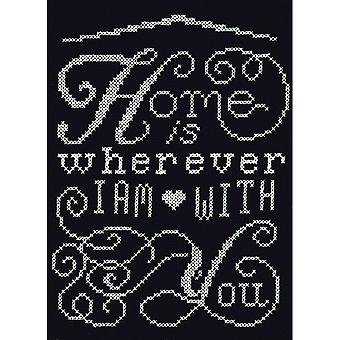 Home Chalkboard Mini Counted Cross Stitch Kit-5