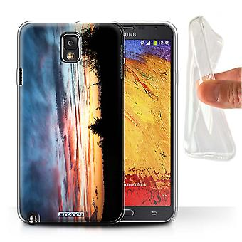 STUFF4 Gel/TPU Case/Cover voor Samsung Galaxy Note 3/rood, oranje & blauw/zonsondergang decor
