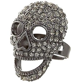 Butler and Wilson Large Pewter Skull Ring Adjustable fits all