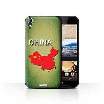 STUFF4 Case/Cover for HTC Desire 830/China/Chinese/Flag Nations