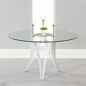 Mark Harris Bellevue 130cm Round Glass Dining Table