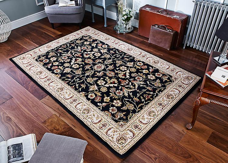 Royal Classic 636B nuances de noir, ivoire, crème et rouge Rectangle Tapis Tapis traditionnels