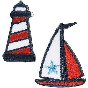 Iron-On Appliques-Lighthouse & Boat 2/Pkg A001300-213