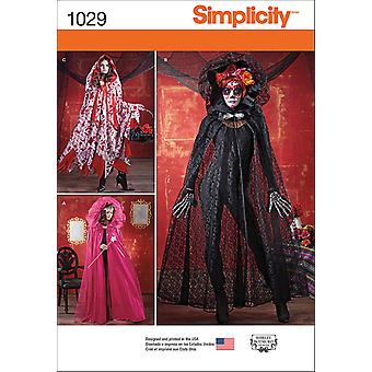 SIMPLICITY MISSES' CAPE COSTUMES-ONE SIZE US1029OS