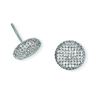 Sterling Silver and CZ Brilliant Embers Post Earrings