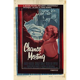 Affiche du film (11 x 17) de la réunion de la chance