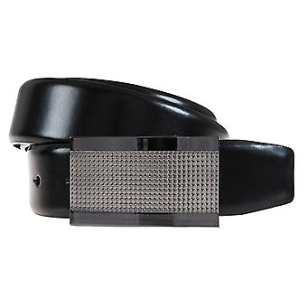ALBERTO belts men's belts leather belt leather black 356
