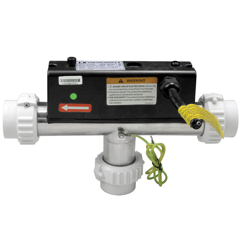 LX H15-R3 Water Heater 1500W (1.5kW) T Shape | Hot Tub | Spa | Whirlpool Bath | Flow Type Heater | 230V/50Hz