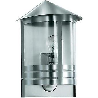 Outdoor wall light (+ motion detector) Energy-saving bulb, LED E27 100 W Steinel L 170 S 645311 Silver