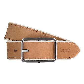 Bugatti belts men's belts leather belt Cognac 821 suede