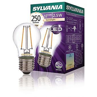 Sylvania Retro Filament LED light Globe bulb 5W E27, 250LM 2 2700 k