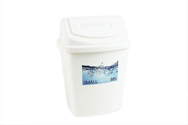 Brights Plastic Swing Bin 5l Capacity Ideal for Bathroom, Bedroom or Home Office