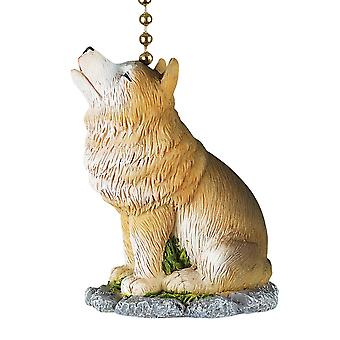 Howling Wolf Decorative Ceiling Fan or Light Dimensional Pull