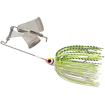 Booyah Buzz Bait 3/8 oz. Fishing Lure - White/Chartreuse Shad