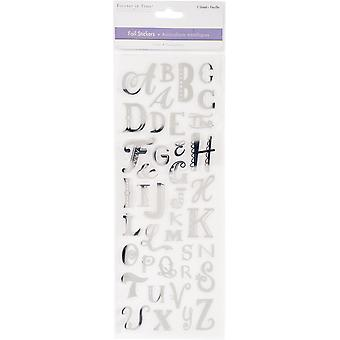 MultiCraft Clear Foil Stickers-Uppercase Alphabet Silver SS147-C