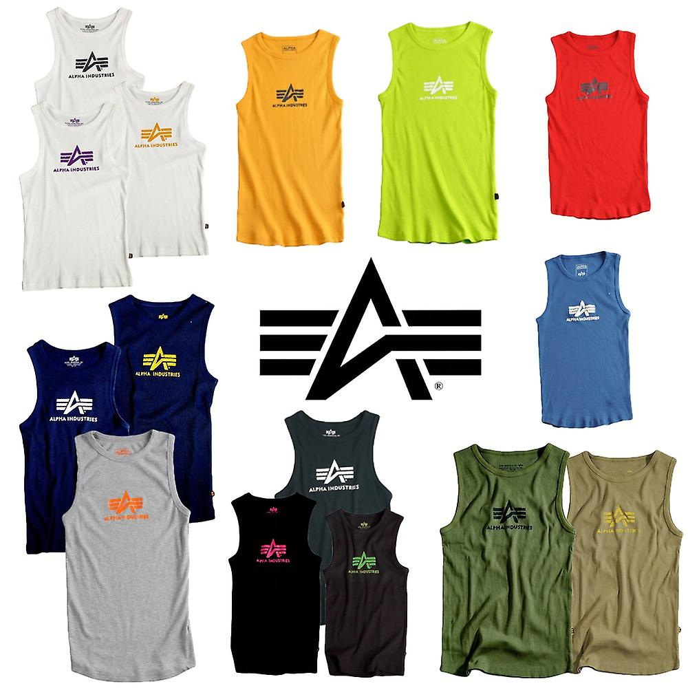 Alpha industries logo tank top