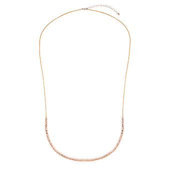 Rose Gold Long Metal Beaded Necklace