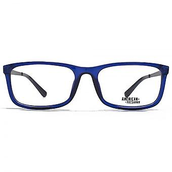 American Freshman Seth Classic Square Glasses In Crystal Blue