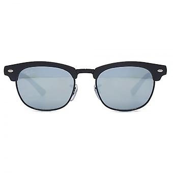 Ray-Ban Junior Clubmaster Sunglasses In Matte Black Grey Flash