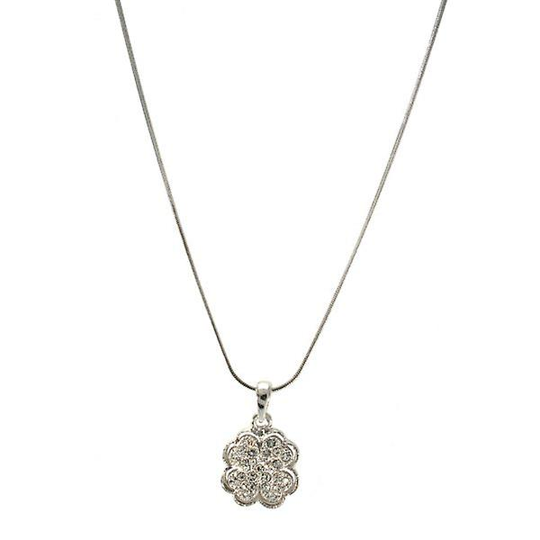 W.A.T Sparkling Crystal Four Leaf Clover Pendant