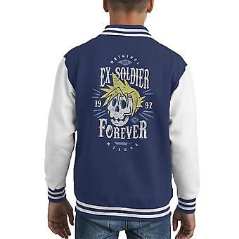 Ex soldado Forever Varsity Jacket Cloud Strife Final Fantasy 7 niños