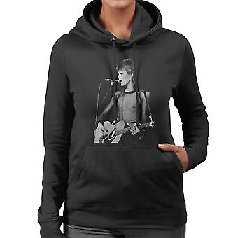 David Bowie Ziggy Stardust Guitar Hammersmith Odeon 1973 Women's Hooded Sweatshirt