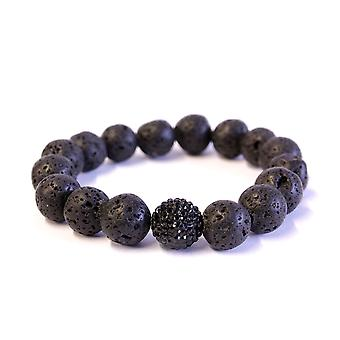 Lavastone & Crystal Bracelet 12mm beads