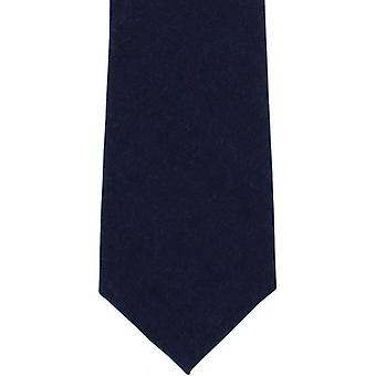 Michelsons of London Plain Wool Tie - Navy