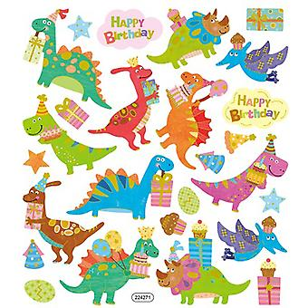 Multicolored Stickers-Dino Birthday SK129MC-4308
