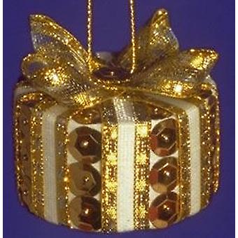 SALE - Pinflair Sequin & Pin Christmas Craft Kit to Make 10 Gold Parcels