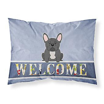 French Bulldog Black Welcome Fabric Standard Pillowcase