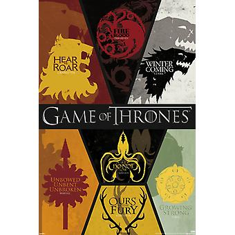 Game of Thrones - Sigils Poster Poster Print