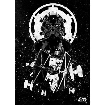 Displate Metal Poster: Star Wars Pilots - Tie Pilot - Large
