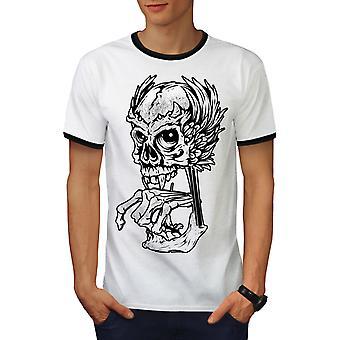 Schedel Angel skelet mannen White Rock / BlackRinger T-shirt | Wellcoda