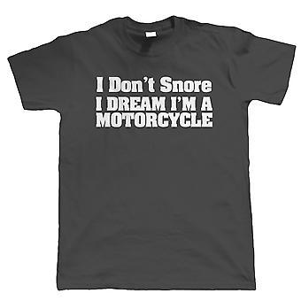 Ich Schnarchen nicht Mens lustig Biker T Shirt